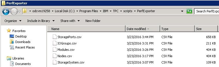 exportPerformanceData ClassSVC Export Output
