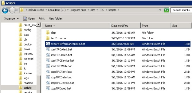 exportPerformanceData Windows Location